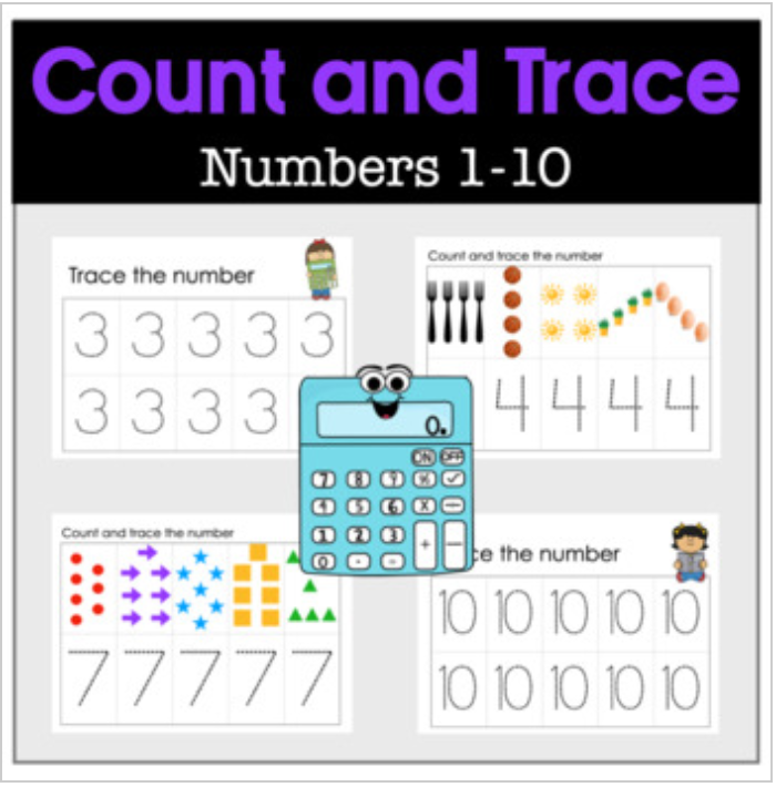 Count and Trace Numbers 1-10