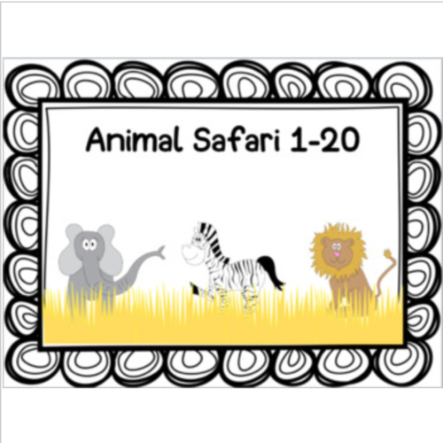 Numbers 1-20 African Safari Review