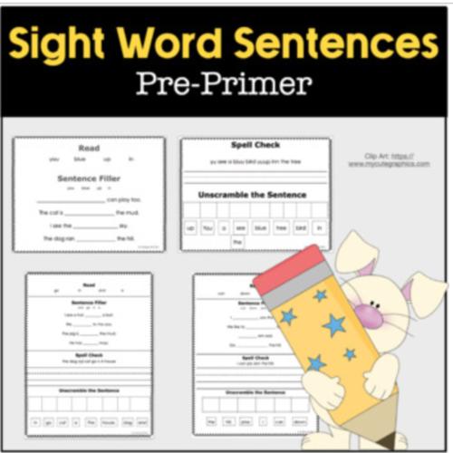 Dolche Pre-Primer Sight Word Sentences