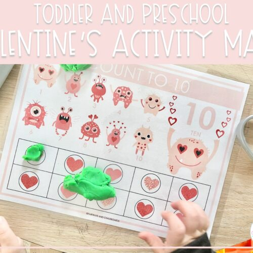 Valentine's Day Activity Mats | Preschool Learning Activities