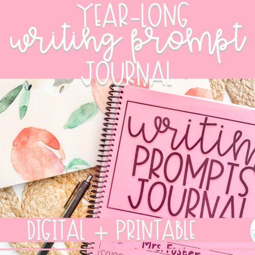 Year Long Weekly Prompt Journal | Digital and Printable