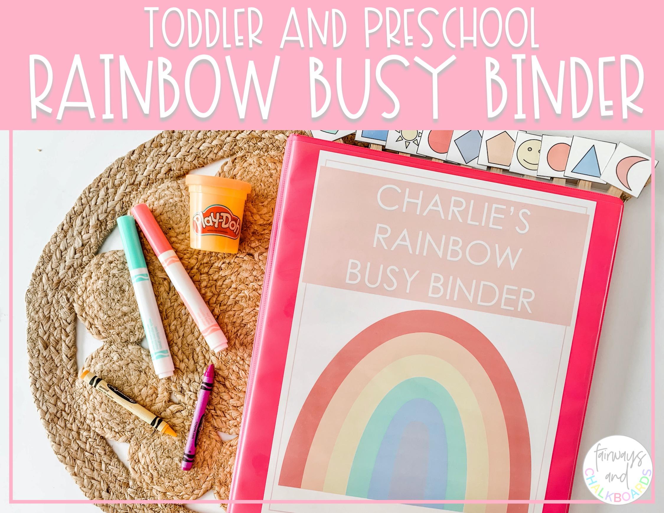 Rainbow Busy Binder | Preschool Learning Activities