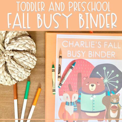 Fall Busy Binder | Preschool Learning Activities