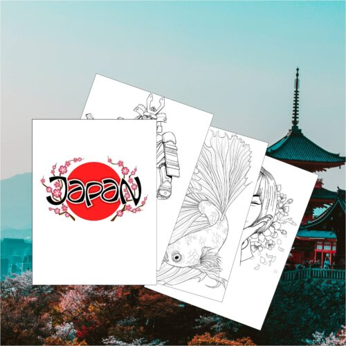Japan Coloring Book for Kids - 21 Japanese Coloring Pages - Japanese Day
