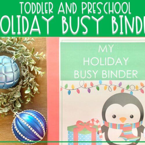 Holiday Busy Binder | Preschool Learning Activities
