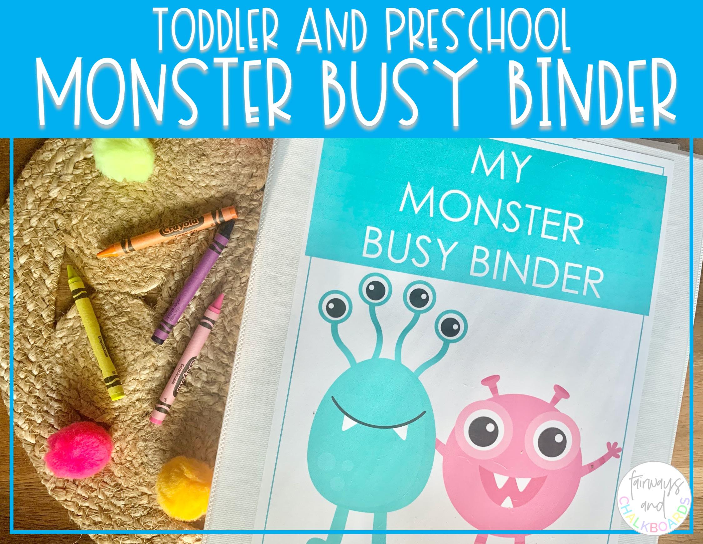 Monster Busy Binder   Preschool Learning Activities