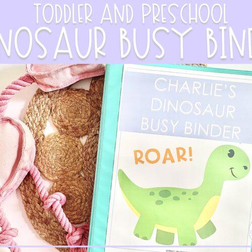 Dinosaur Busy Binder | Preschool Learning Activities