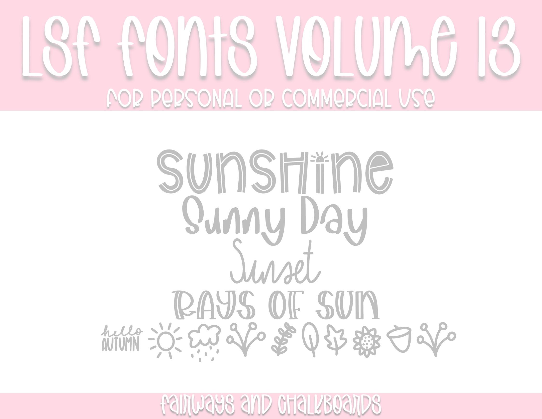 LSF Fonts: Volume 13