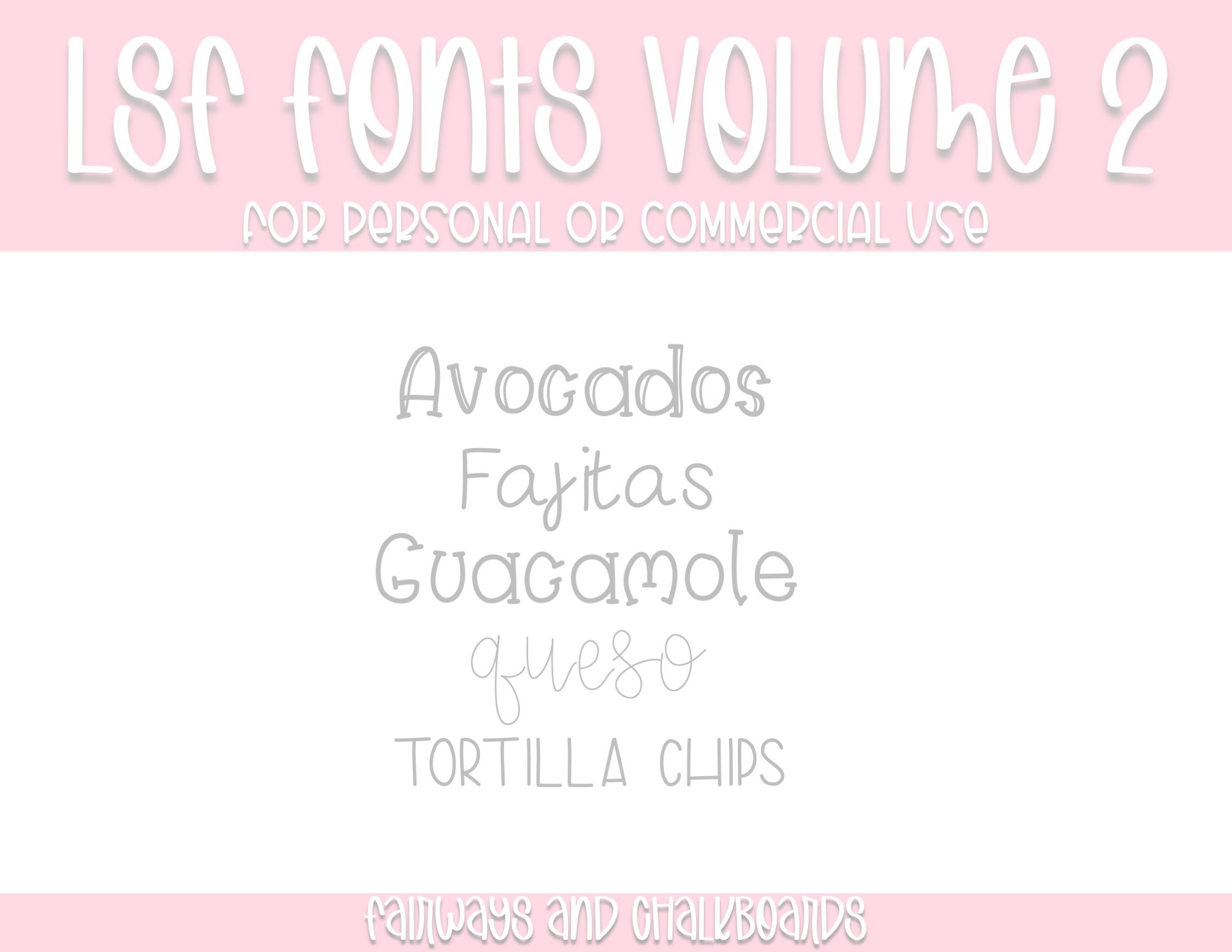 LSF Fonts: Volume 2