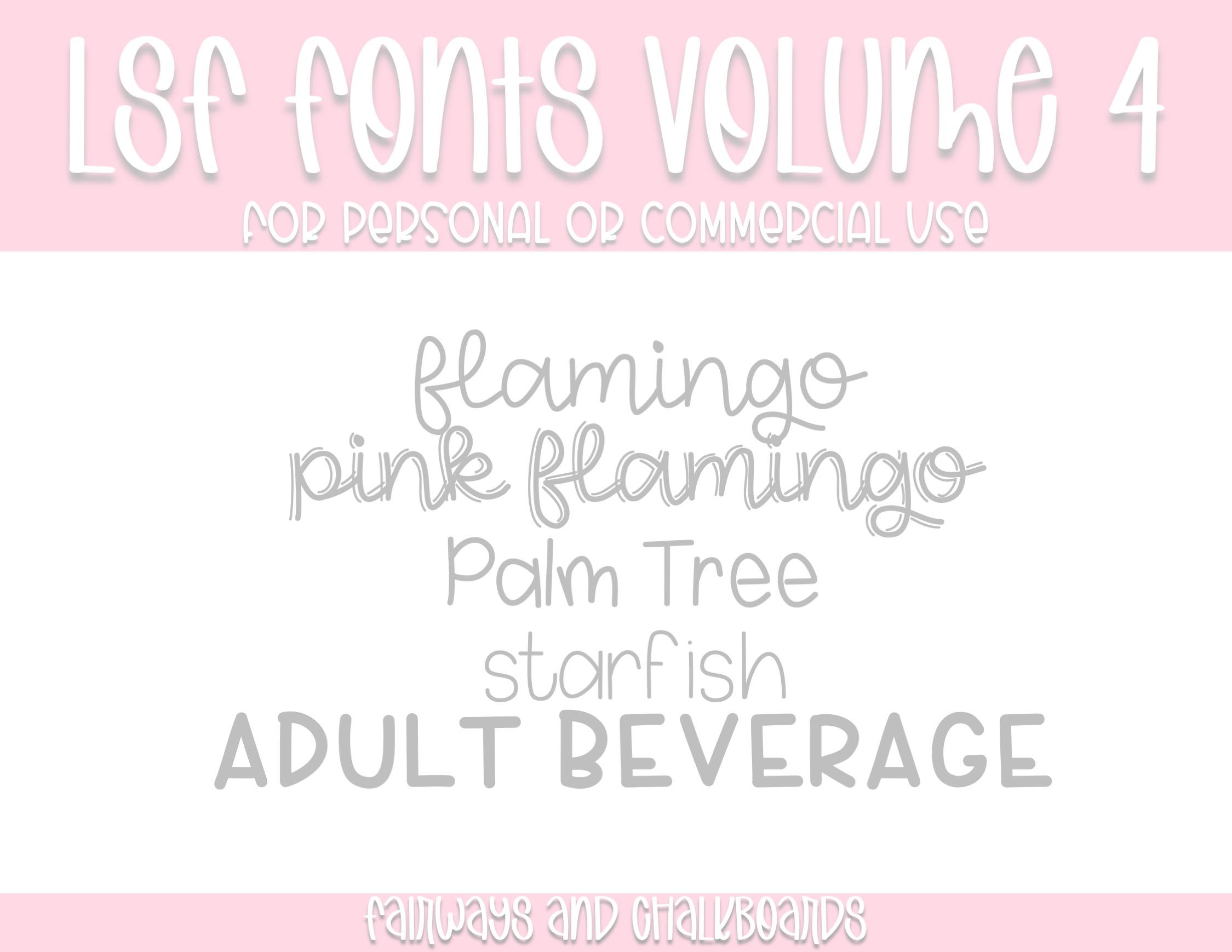 LSF Fonts: Volume 4