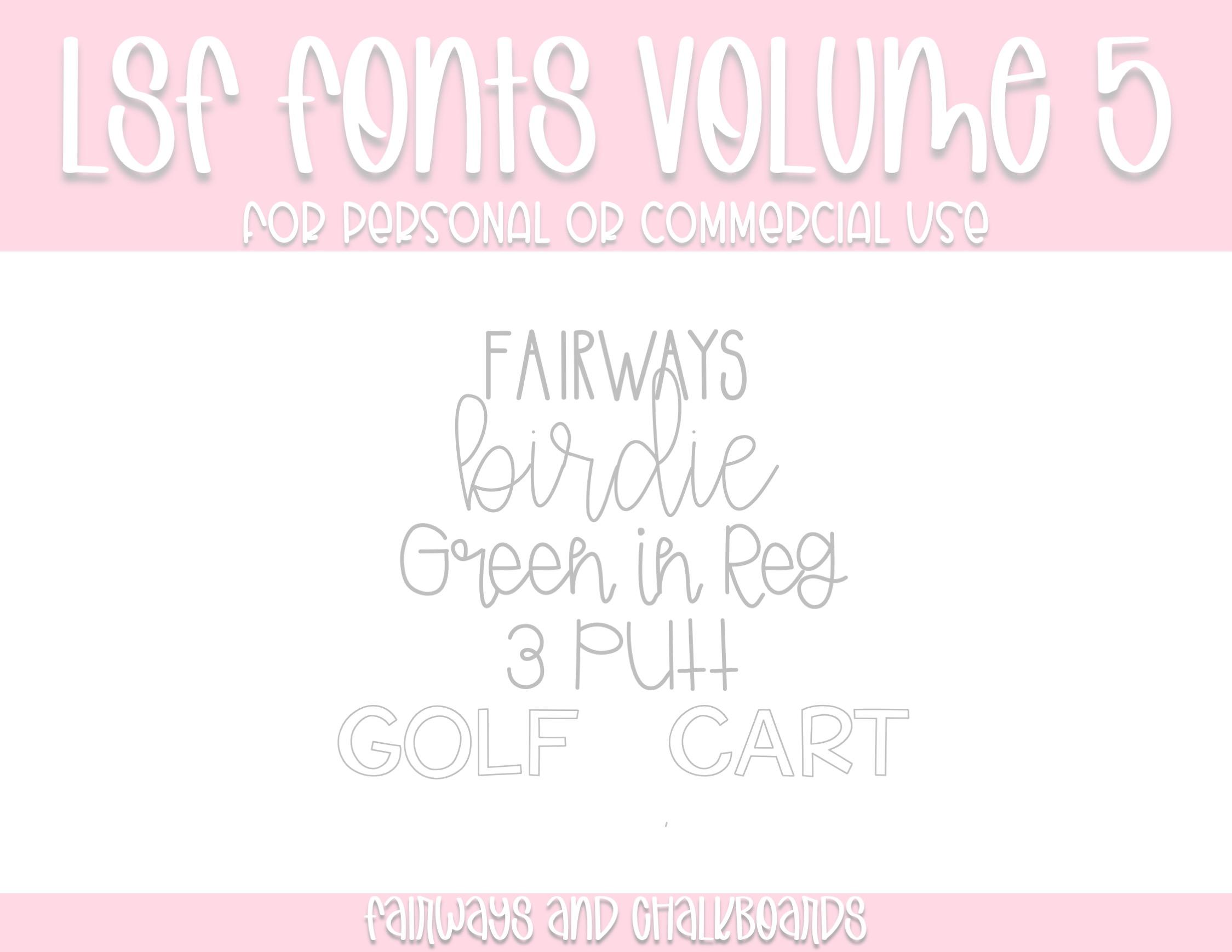 LSF Fonts: Volume 5