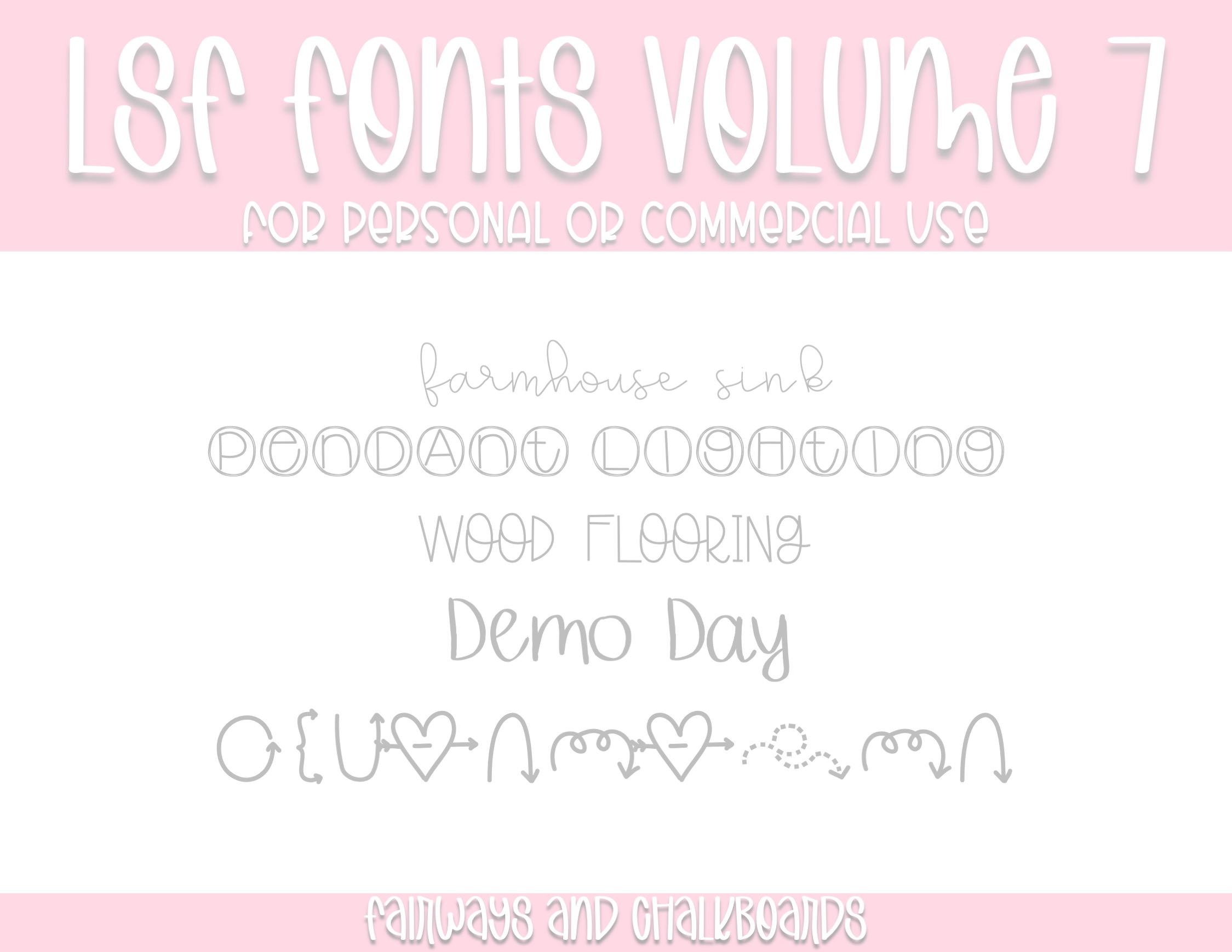 LSF Fonts: Volume 7