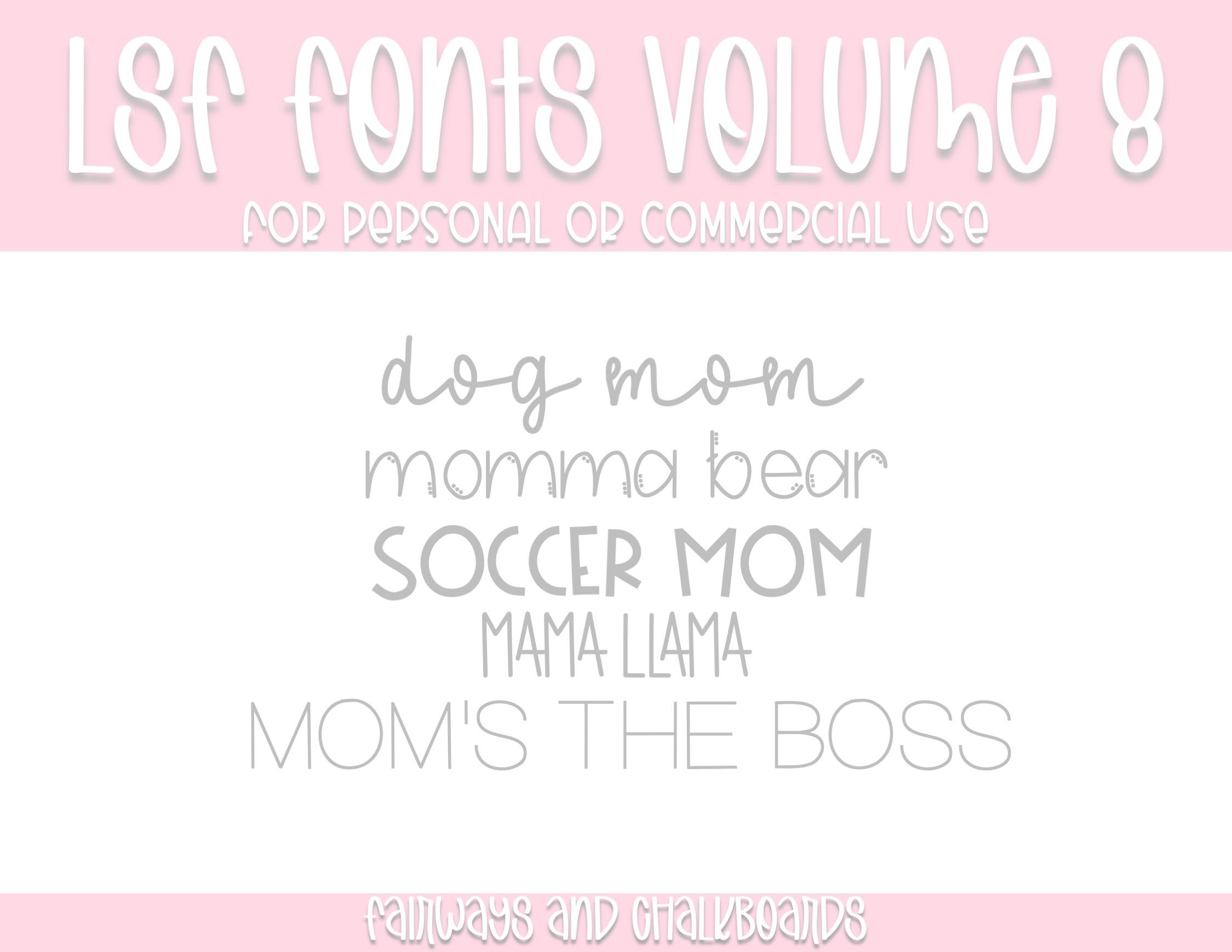 LSF Fonts: Volume 8