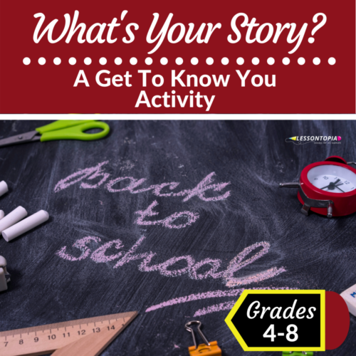 Back To School   What's Your Story? Activity