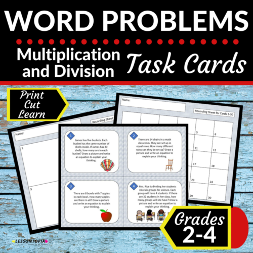 Multiplication and Division Word Problems | Math Task Cards's featured image