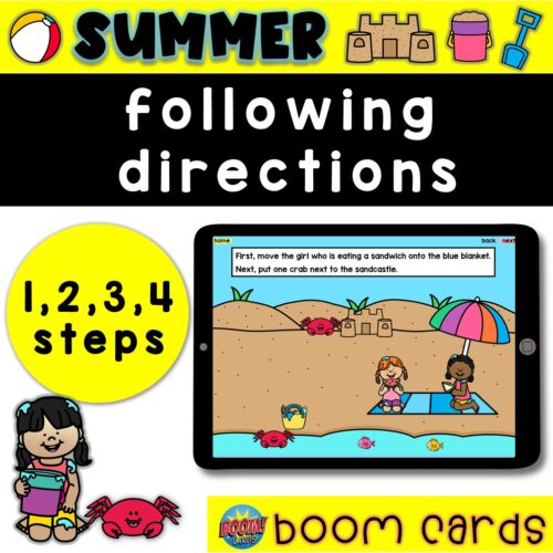 Activities for Following Directions | Summer Boom Cards