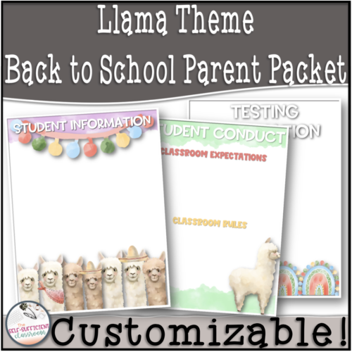 Llama Back to School Parent Information Packet