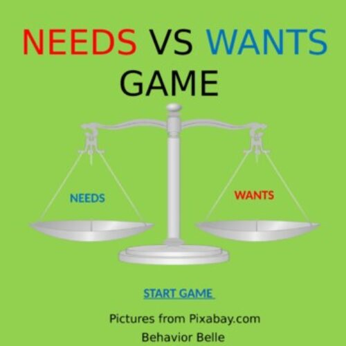 NEED VS WANTS Power Point Game (Early Learners)