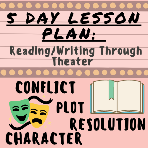 5 Day Lesson Plan: Reading and Writing Through Theater (Character, Plot, Conflict, and Resolution)