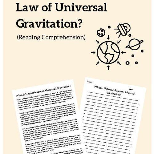 Newton's Law of Universal Gravitation, Reading Passage