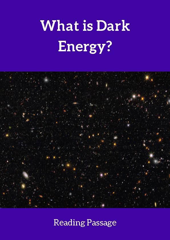 Dark Energy, Reading Passage