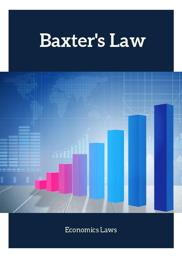 Baxter's Law (Economics Laws)