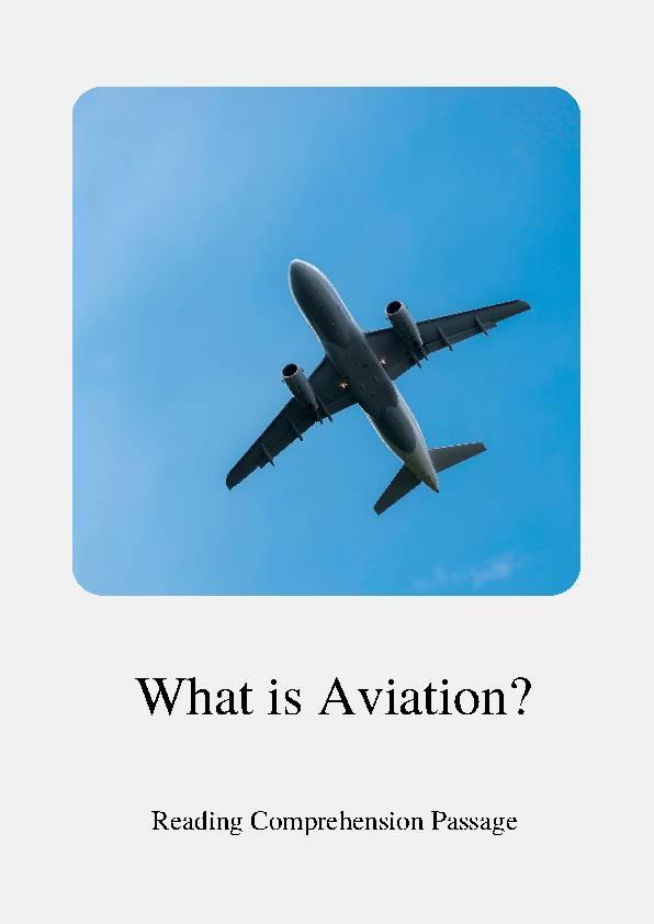 Aviation, Reading Passage