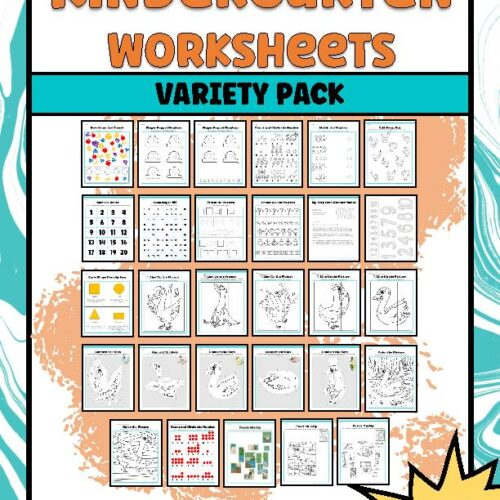 Kindergarten Worksheets Variety Pack | Number and Geometry Edition | Answer Keys Included | DIGITAL DOWNLOAD