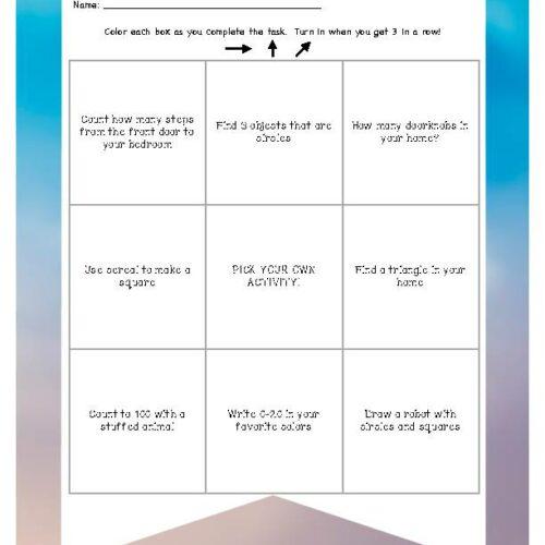 Editable Kindergarten Math Bingo