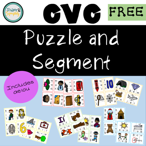 CVC Puzzles - Includes aeiou