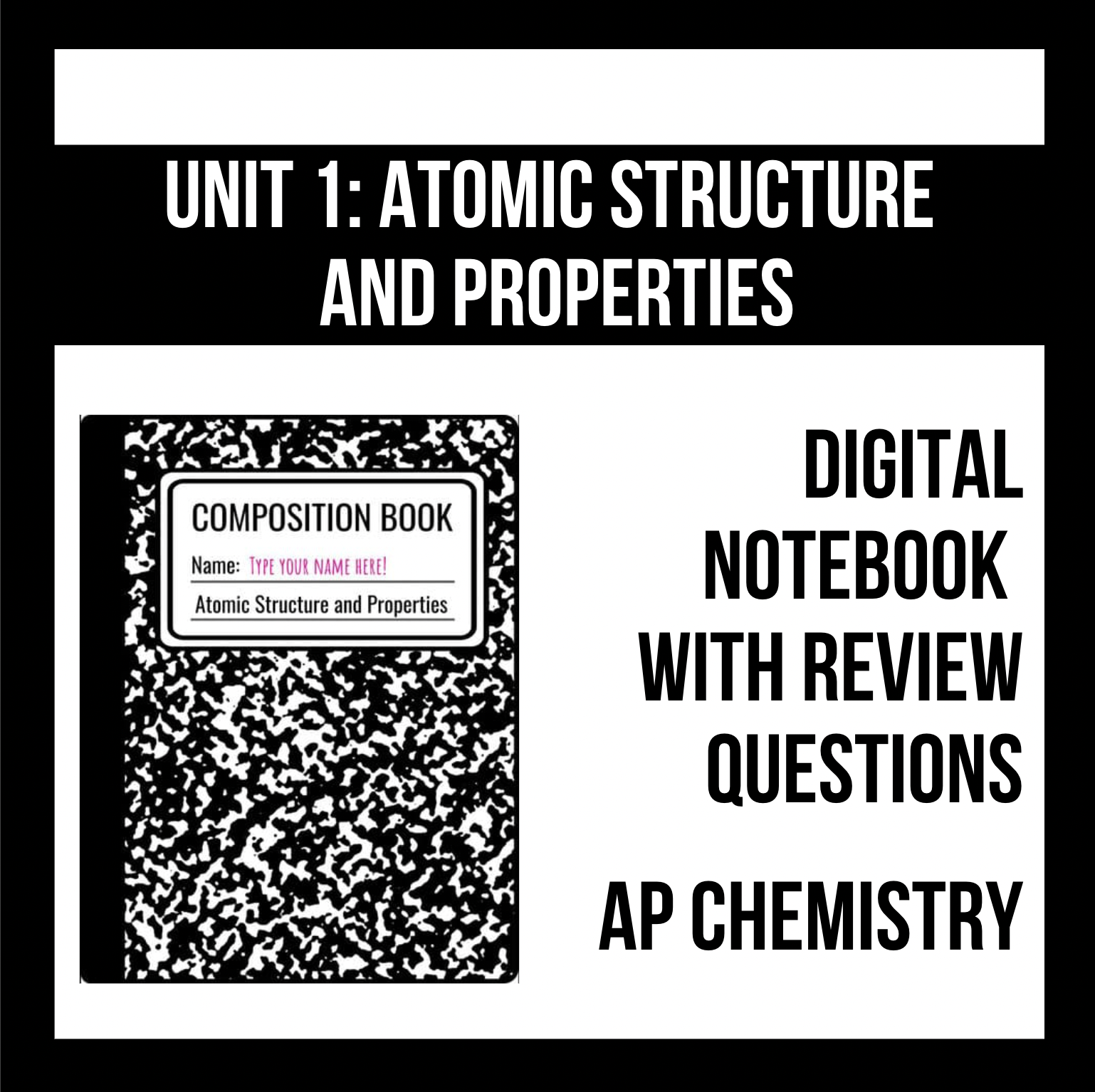 Unit 1: Atomic Structure and Properties