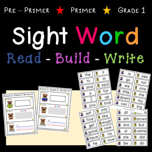 Sight Words - Read it, Build it, Write it!