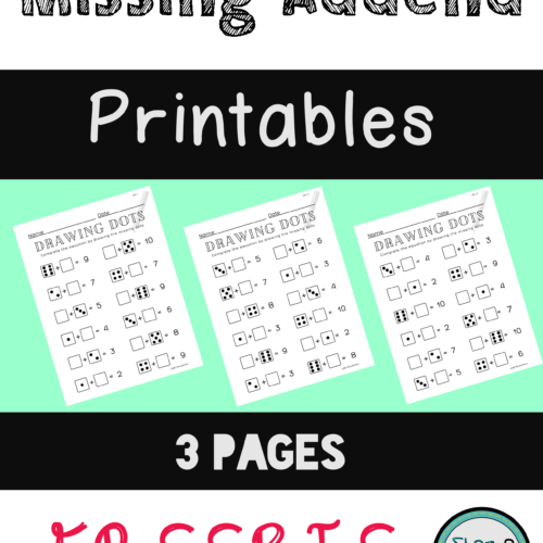 Missing Addend - Dice Addition Printables