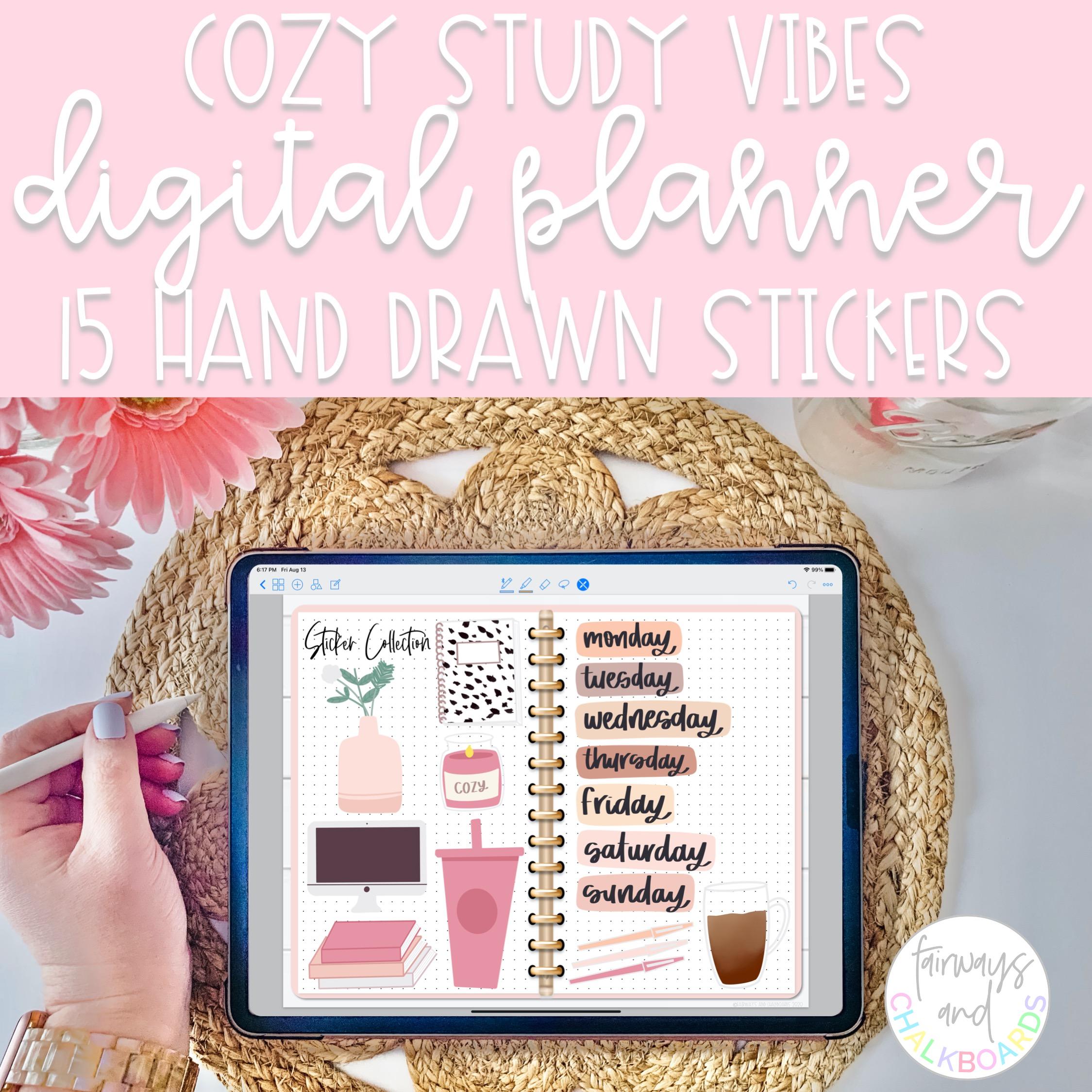 Cozy Study Vibes Digital Stickers