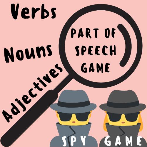 Parts of Speech GAME (Nouns, Verbs, & Adjectives) [Secret Spy]!