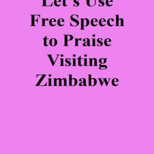 Let's Use Free Speech to Praise Visiting Zimbabwe