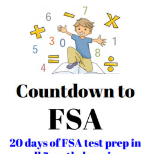 4th Grade Math Florida FSA Printable DISTANCE LEARNING REVIEW / TEST PREP PACKET's featured image