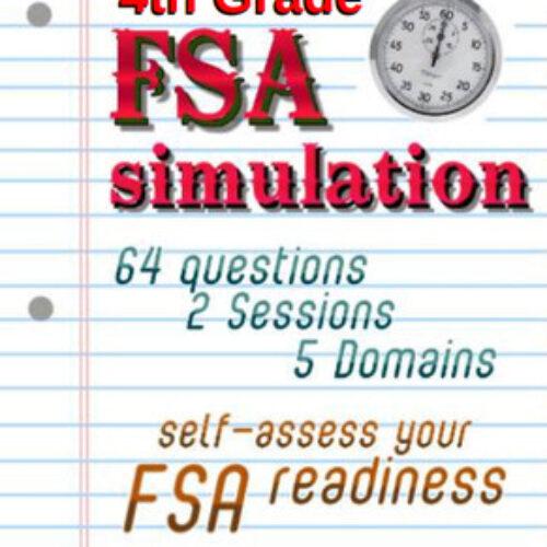 FSA Simulation for 4th Grade Math: 64 qsts; NO PREP TEST PREP! Print and go! Includes answer key.