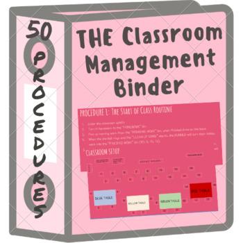 Complete Classroom Management Binder (50 Procedures For First Year Teachers)
