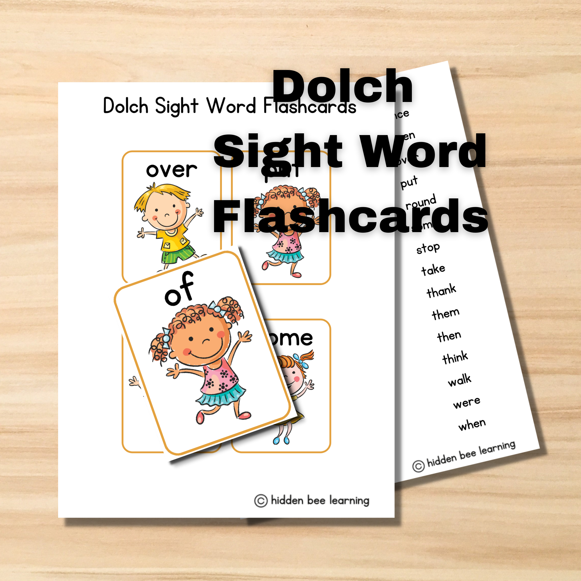 My Dolch Site Word Flashcards