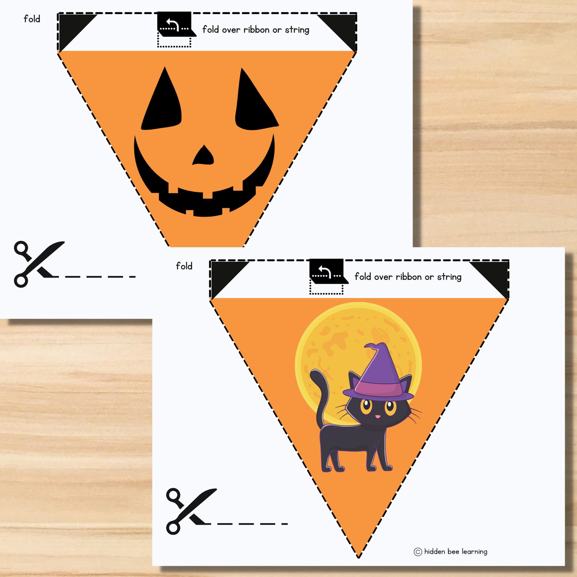 Happy Halloween Classroom Flags