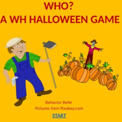 WH QUESTIONS (WHO?) PowerPoint Game (Virtual Game) Halloween Edition