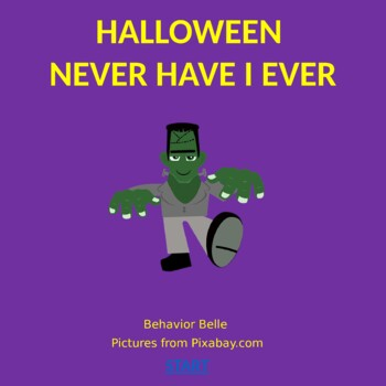 Virtual Halloween NEVER HAVE I EVER (Kid Version PowerPoint) (SOCIAL SKILLS)