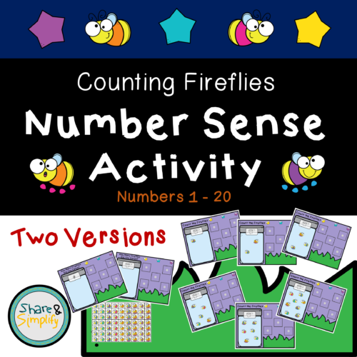 Number Sense Activity - Counting Fireflies
