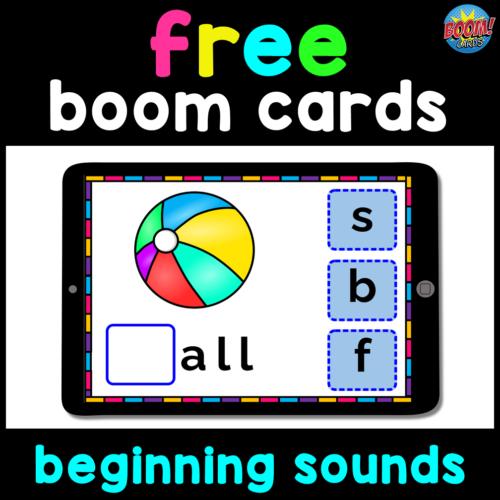 Free Boom Cards Beginning Sounds Activities