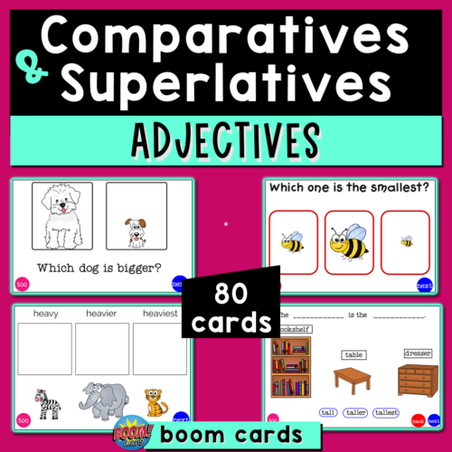Comparatives and Superlatives of Adjectives Boom Cards