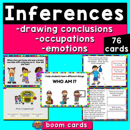 Making Inferences Boom Cards