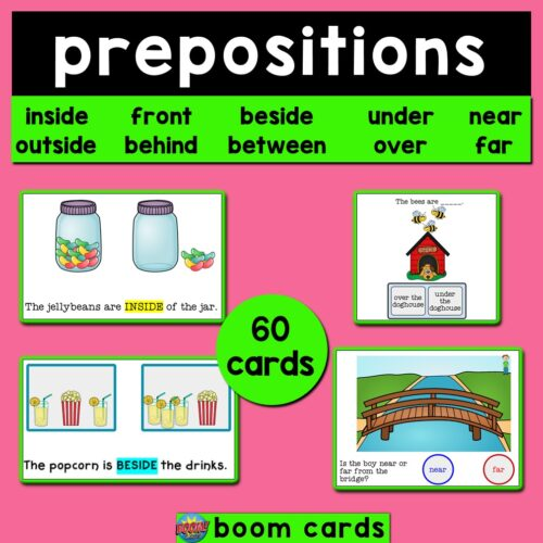 Prepositions of Place Boom Cards