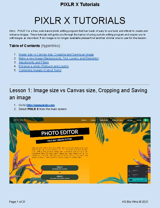 Introduction to Photo Editing w/ the free program PIXLR X - Chromebook Friendly's featured image