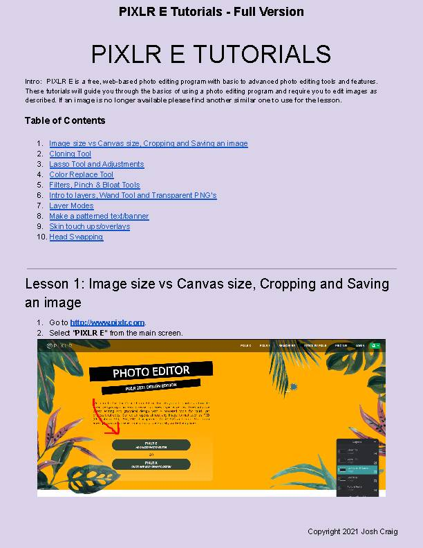 Photo Editing with free PIXLR E - Full Version (10 Lessons). Chromebook Friendly!'s featured image